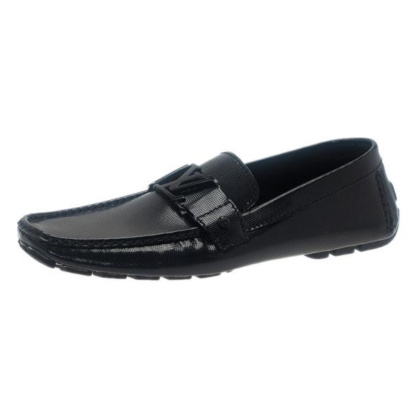 3c8bbc5aeb3d ... Louis Vuitton Black Patent Monte Carlo Loafers Size 42.5. nextprev.  prevnext