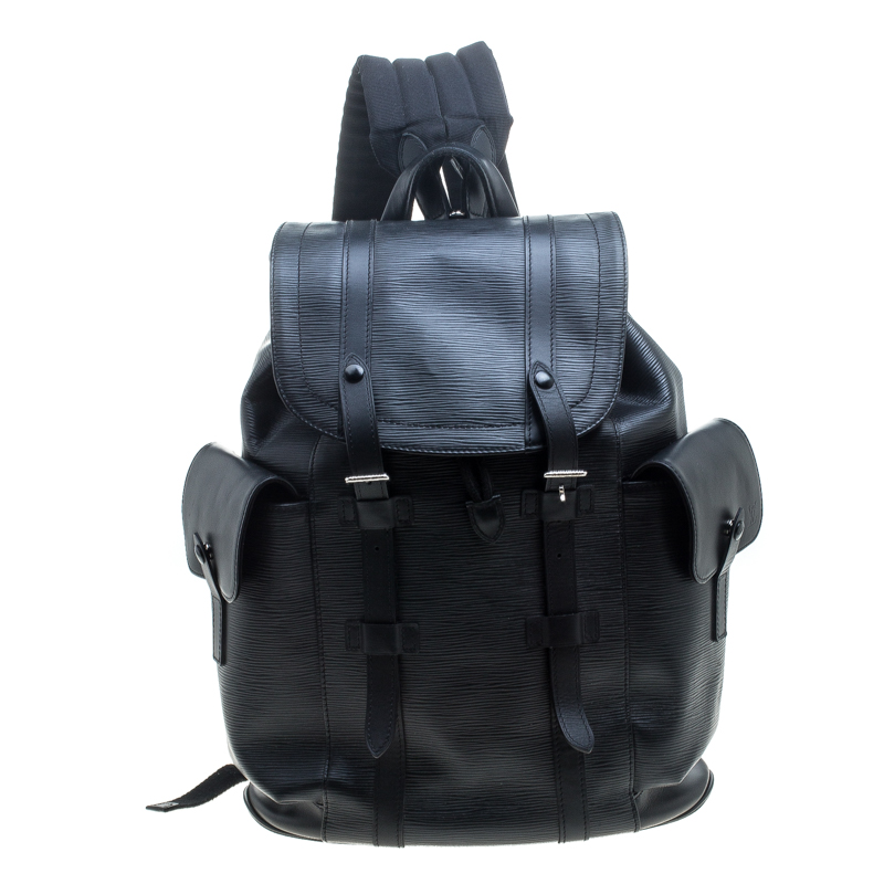 Buy Louis Vuitton Black Epi Leather Christopher PM Backpack 145199 ... c80234cfd72da