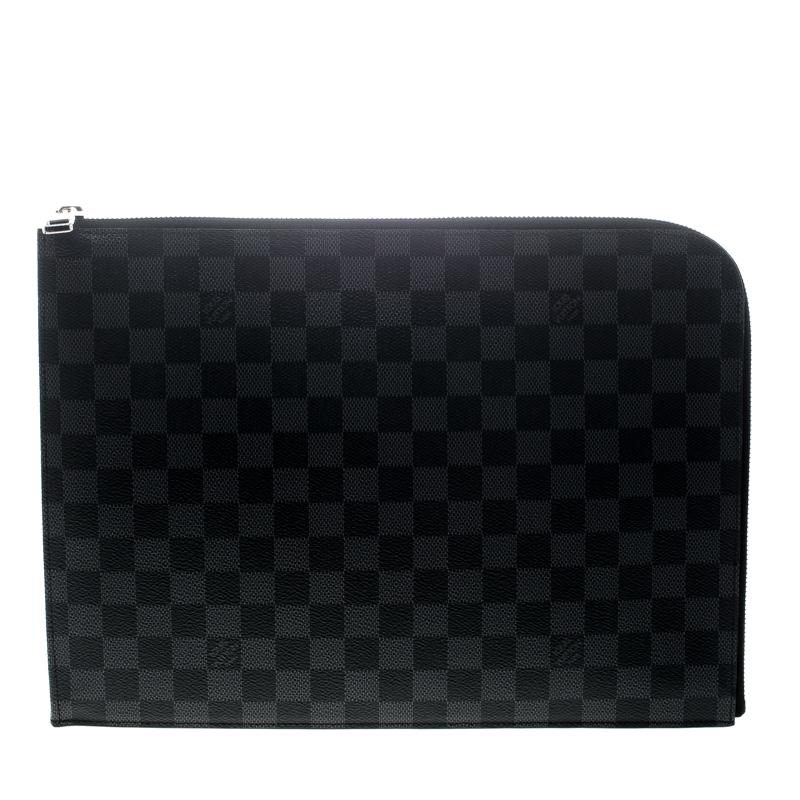 buy popular d0ebf 9076b Louis Vuitton Damier Graphite Canvas Poche Documents Portfolio Case