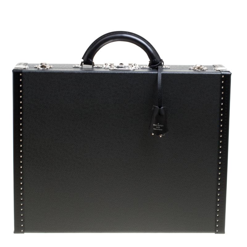 cce5b9b9565d ... Louis Vuitton Black Taiga Leather President Briefcase. nextprev.  prevnext