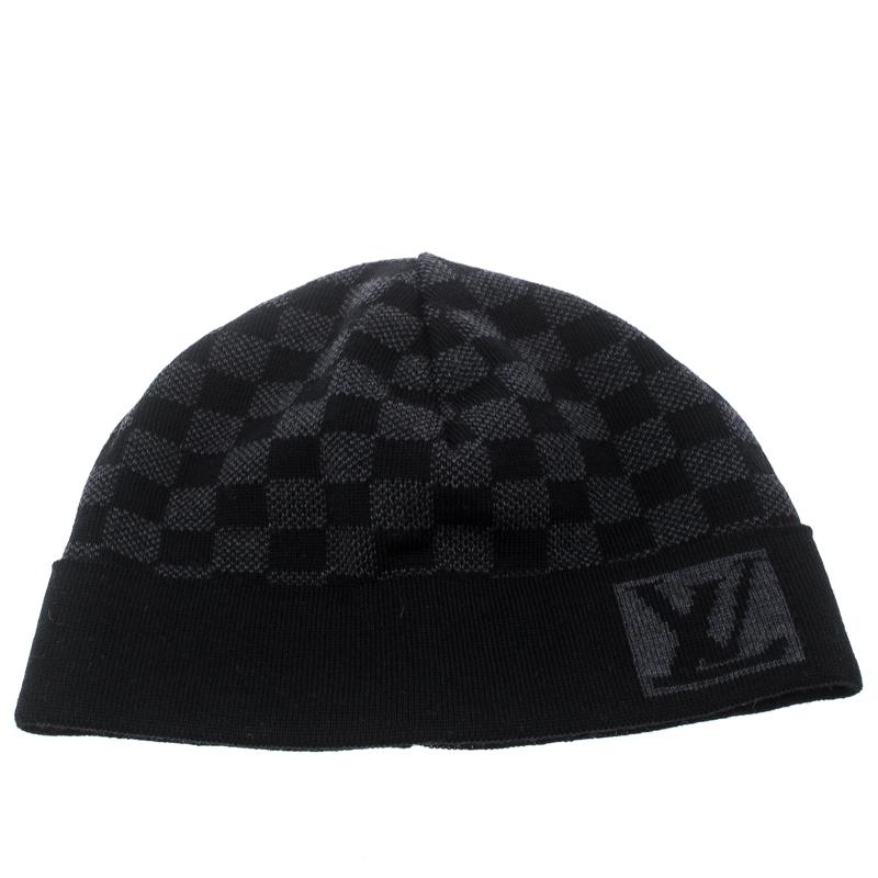 27b32ae805 Buy Louis Vuitton Graphite Damier Petite Wool Beanie 152659 at best ...