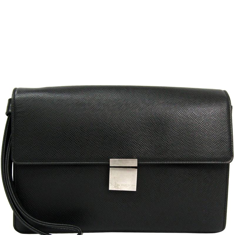 263343c1205 Louis Vuitton Ardoise Taiga Leather Selenga Clutch Bag