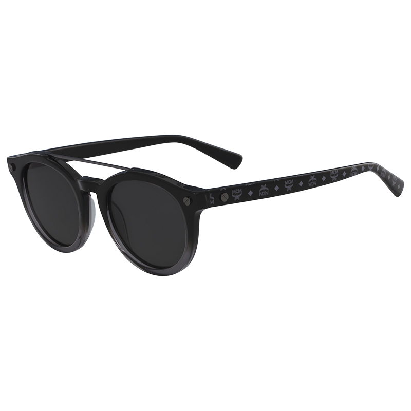 65c67e7583e3e Buy MCM Black Visetos MCM668S Round Sunglasses 171288 at best price ...
