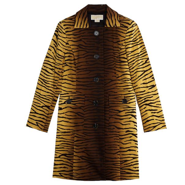 MICHAEL Michael Kors Animal Print Trench Coat M