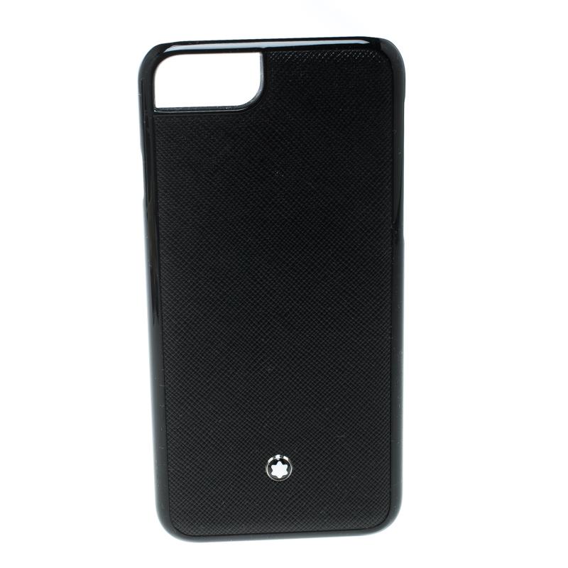 Купить со скидкой Montblanc Black Leather Hardphone Iphone 8 Case