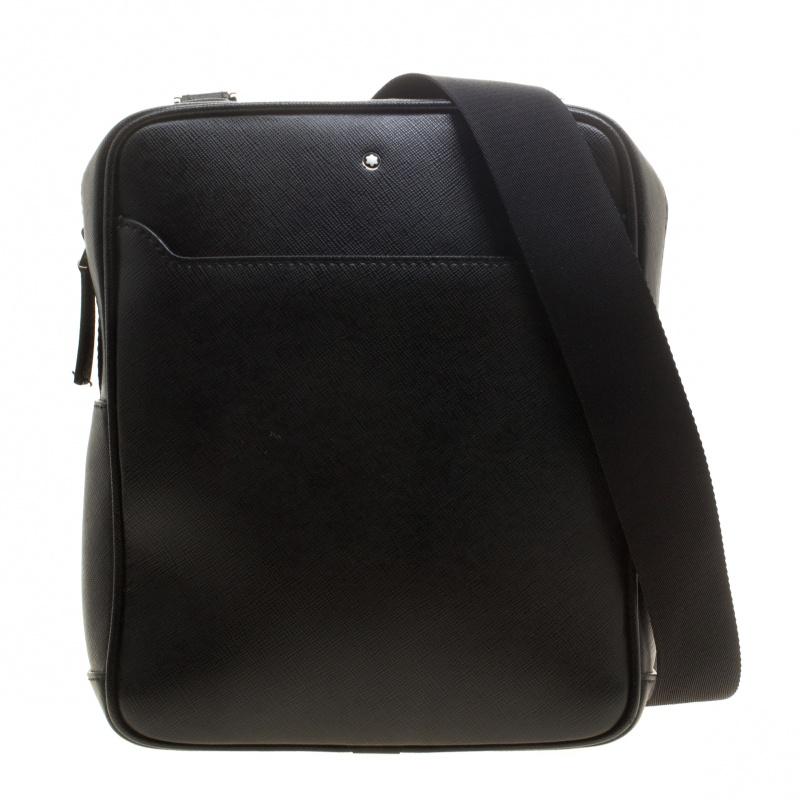 ea116fe519ec8 ... Montblanc Black Leather Small Sartorial Messenger Bag. nextprev.  prevnext