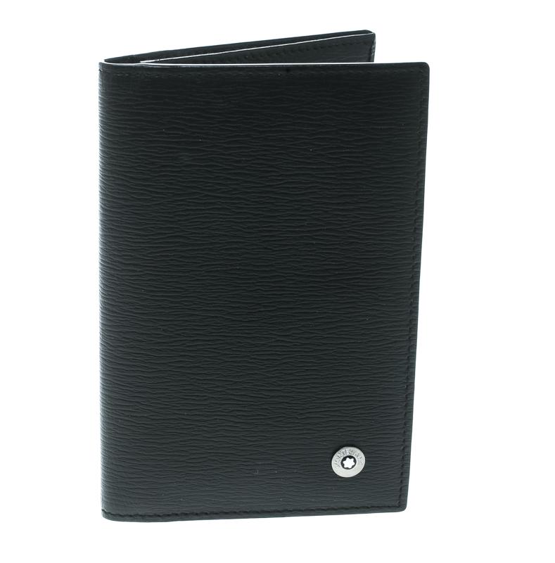 Montblanc Black Leather Westside Business Card Holder