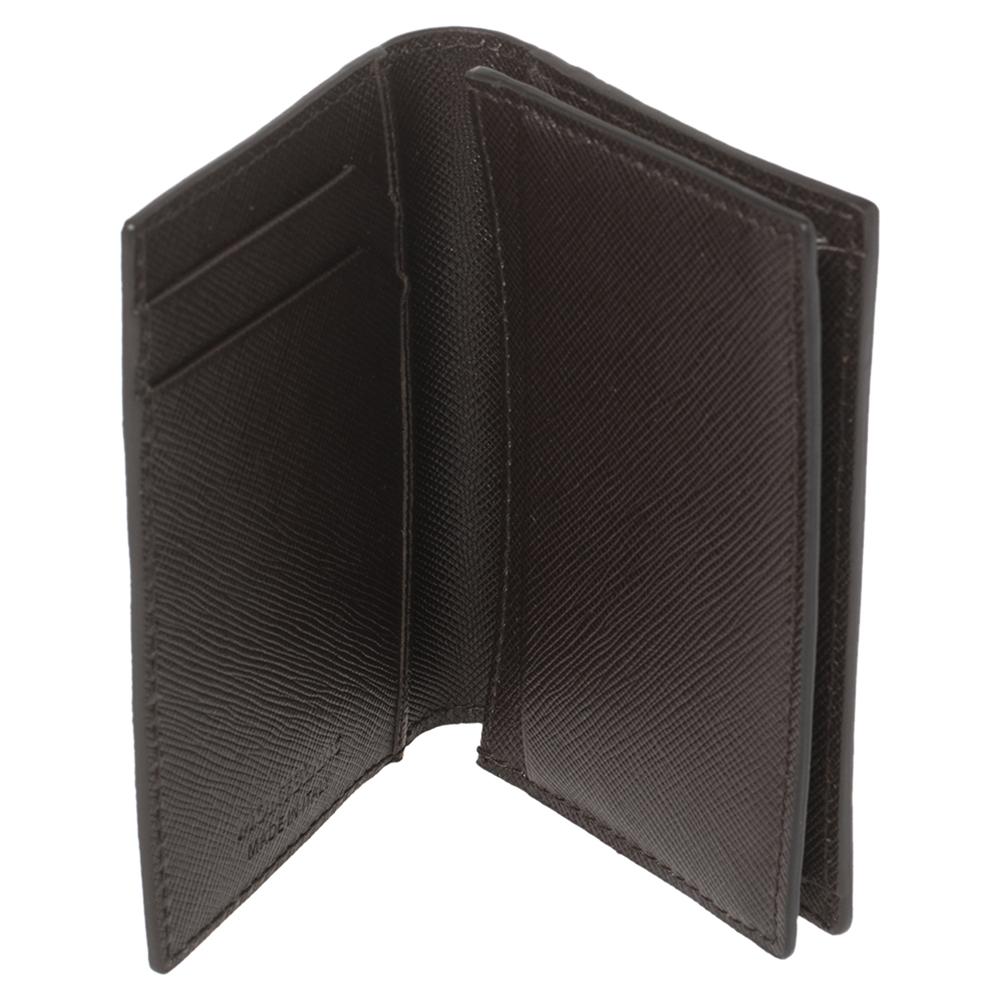 Montblanc Dark Brown Sartorial Leather Business Card Holder