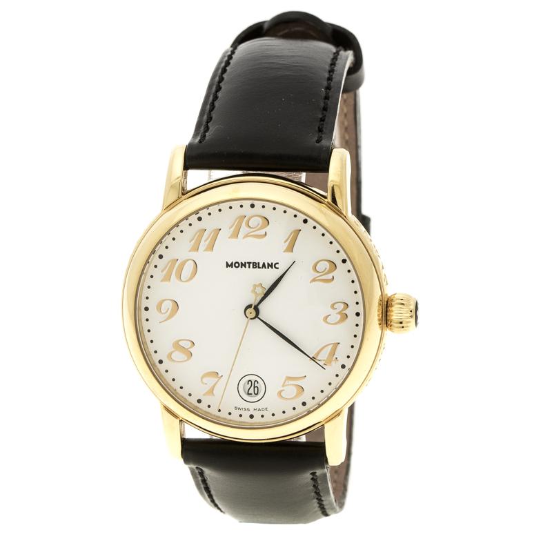 09bea3dbd إشتري ساعة يد رجالية مون بلان ستار 7002 بيكس ستانلس ستيل مطلي ذهب ...