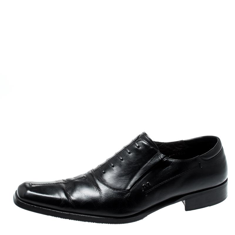 Moreschi Black Leather Oxford Size 42.5