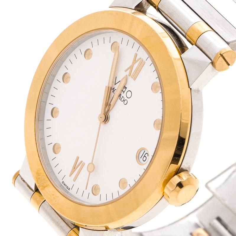 Купить со скидкой Movado White Two Tone Vizio Men's Watch 35MM