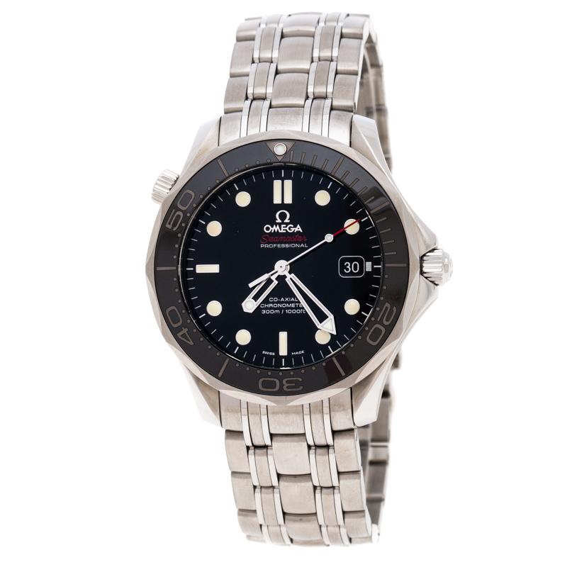 Omega Black Stainless Steel Seamaster 212.30.41.20.01.003 Men's Wristwatch 41 MM