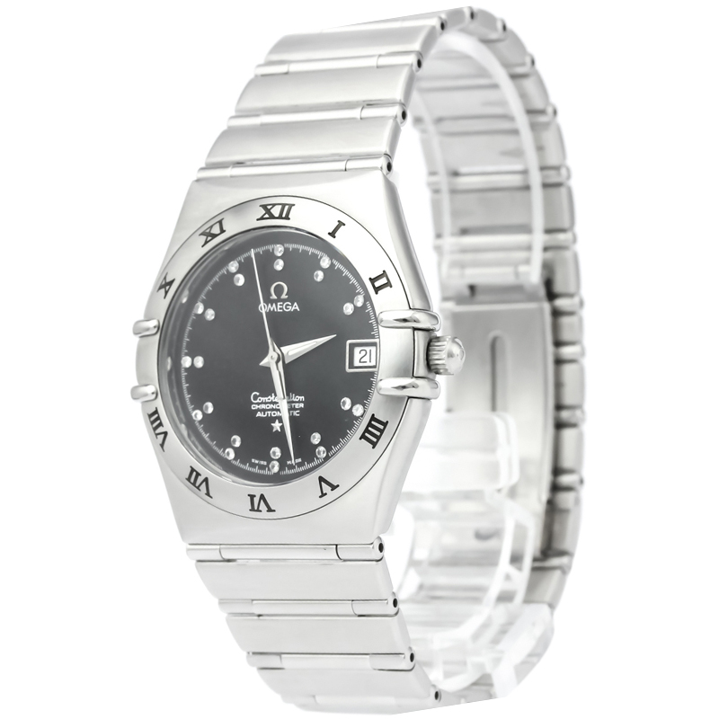 6ae52c550339 ... Omega Black Stainless Steel Constellation Men s Wristwatch 36MM.  nextprev. prevnext