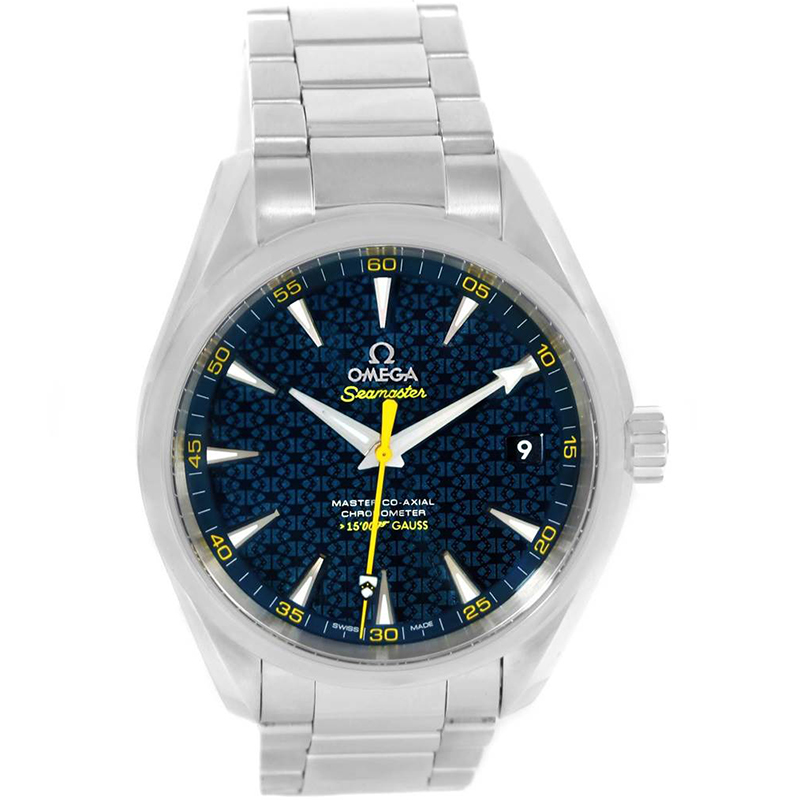 Omega Blue Stainless Steel Seamaster Aqua Terra Spectre Bond Limited  Edition 231 10 42 21 03 004 Men's Wristwatch 41 5MM