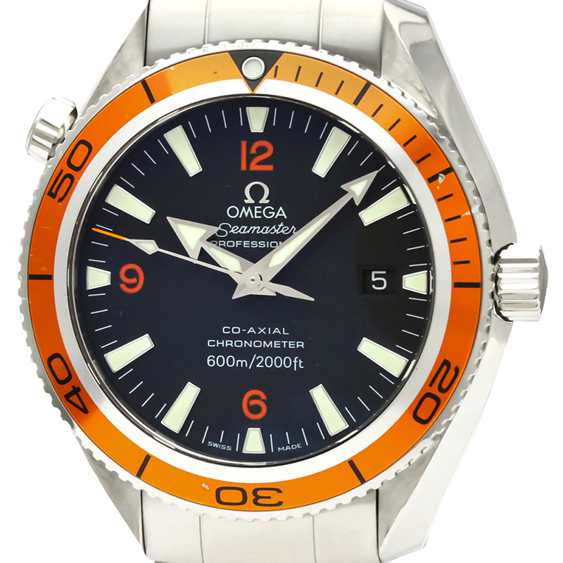 Omega Black Stainless Steel Seamaster Planet Ocean Co-Axial Automatic 2209.50 Men's Wristwatch 42 MM  - buy with discount