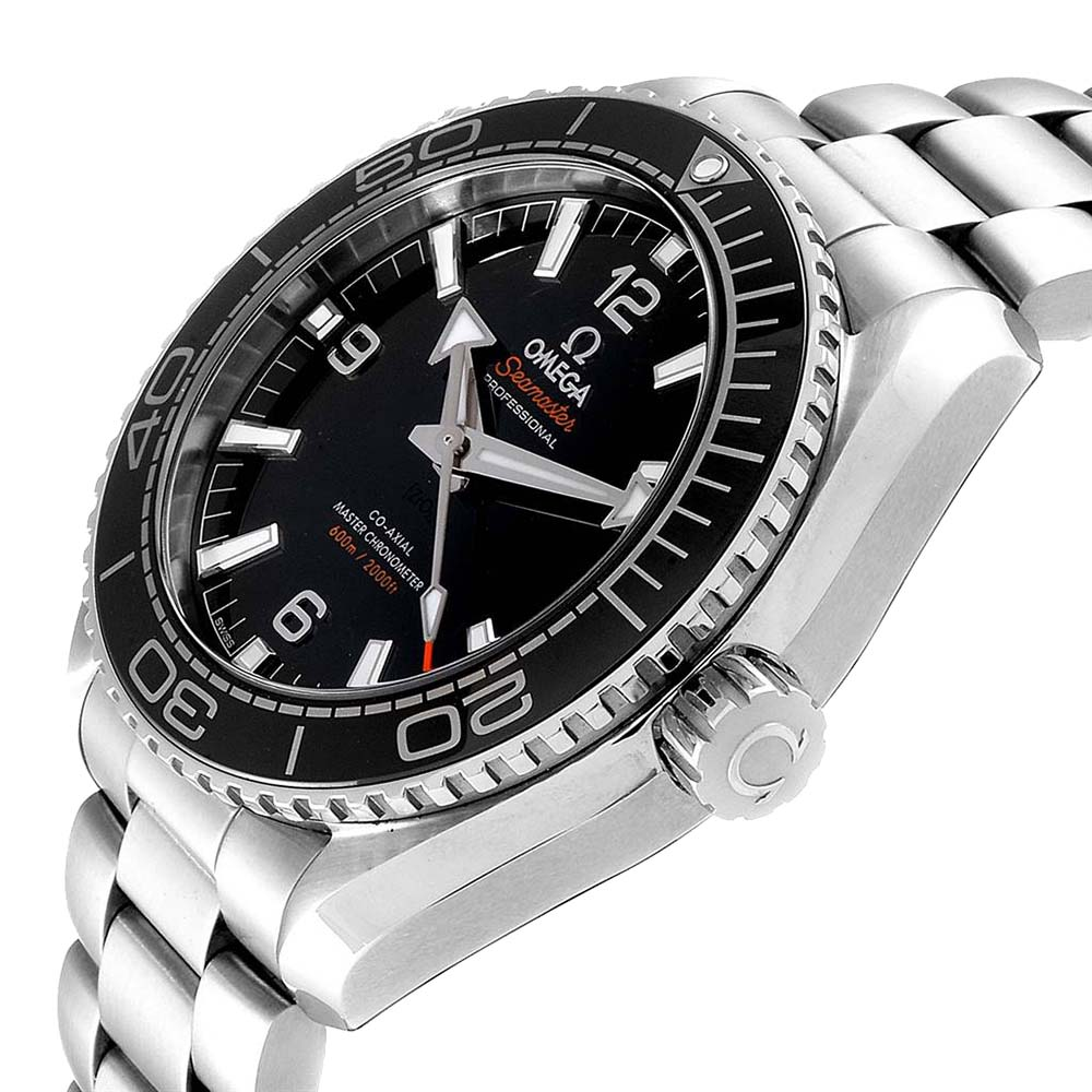 Omega Black Stainless Steel Seamaster Planet Ocean 215.30.44.21.01.001 Men's Wristwatch 43.5 MM  - buy with discount