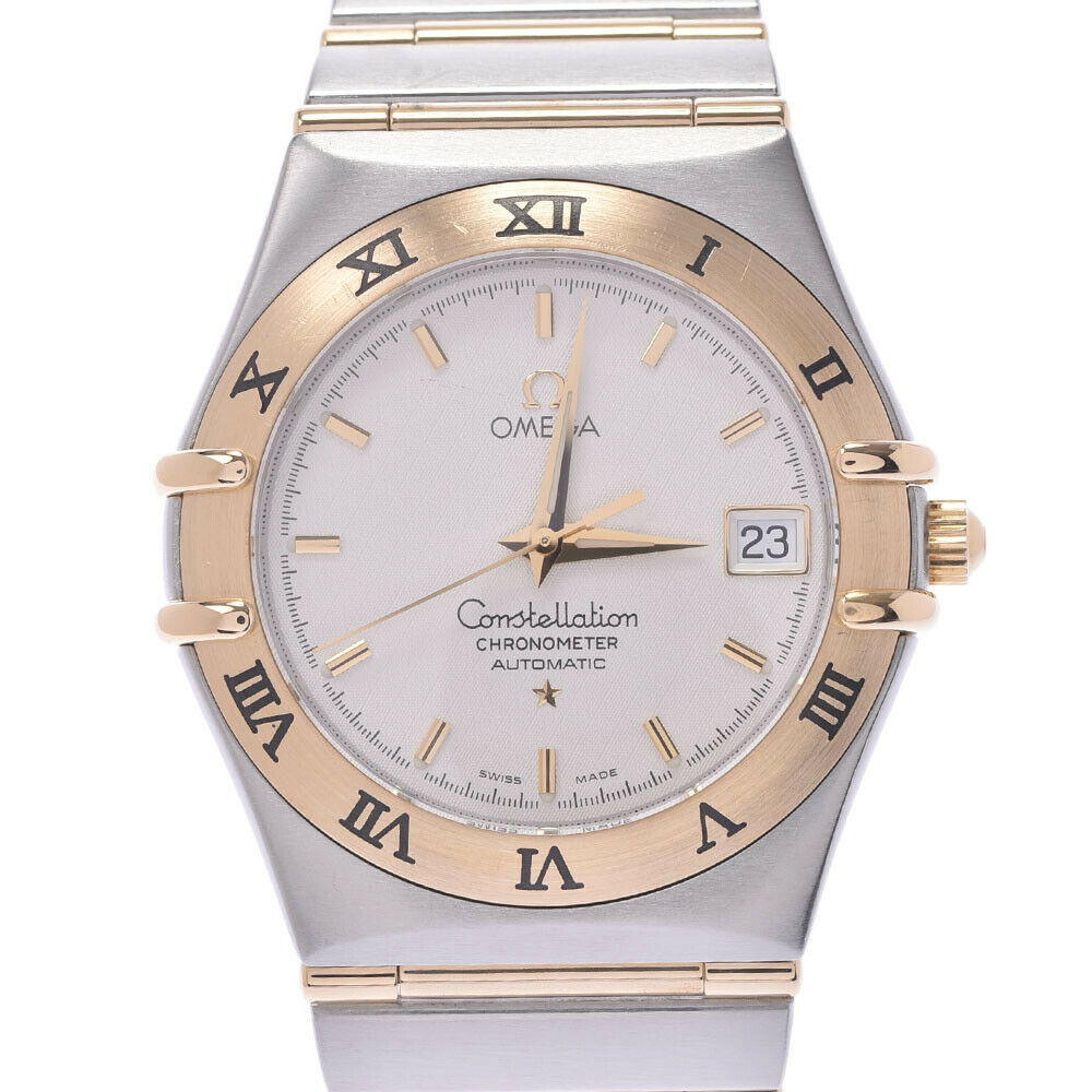 OMEGA WHITE 18K YELLOW GOLD AND STAINLESS STEEL CONSTELLATION CHRONOMETER 1302.30 MEN'S WRISTWATCH 35 MM