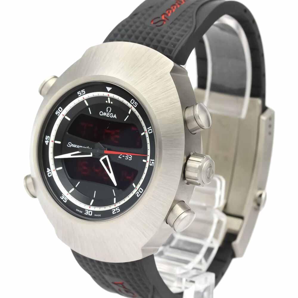 Omega Black Titanium Speedmaster Spacemaster Z-33 325.92.43.79.01.001 Men's Wristwatch 43 MM  - buy with discount