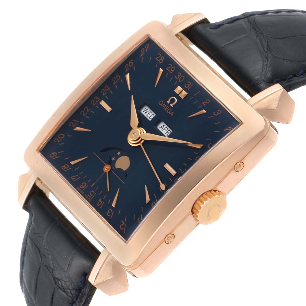 Omega Blue 18k Rose Gold Museum Collection 1951 Cosmic 5701.80.03 Men's Wristwatch 41.5 MM  - buy with discount