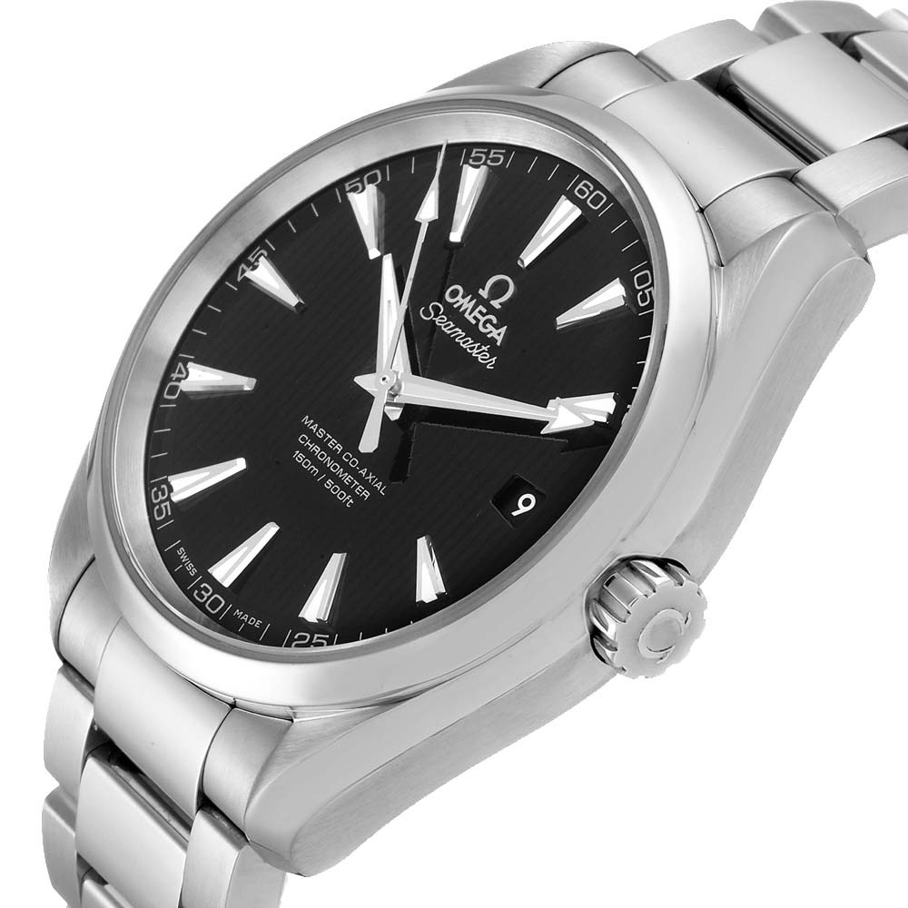 Omega Black Stainless Steel Seamaster Aqua Terra 231.10.42.21.01.003 Men's Wristwatch 41.5 MM  - buy with discount