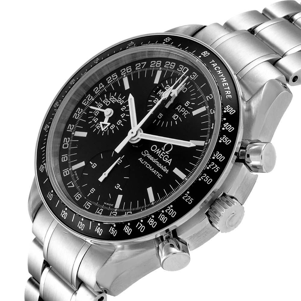 Omega Black Stainless Steel Speedmaster Day-Date Chronograph 3520.50.00 Men's Wristwatch 39 MM  - buy with discount