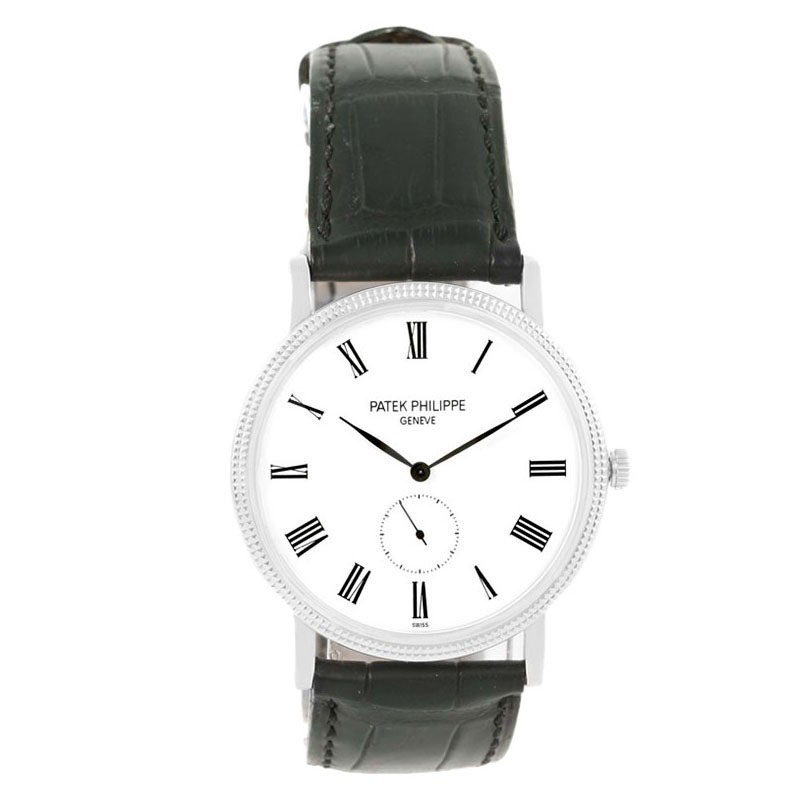 59fc3c7899d8a إشتري ساعة يد رجالية باتيك فيليب غولد كالاترافا ذهب أبيض عيار 18 ...