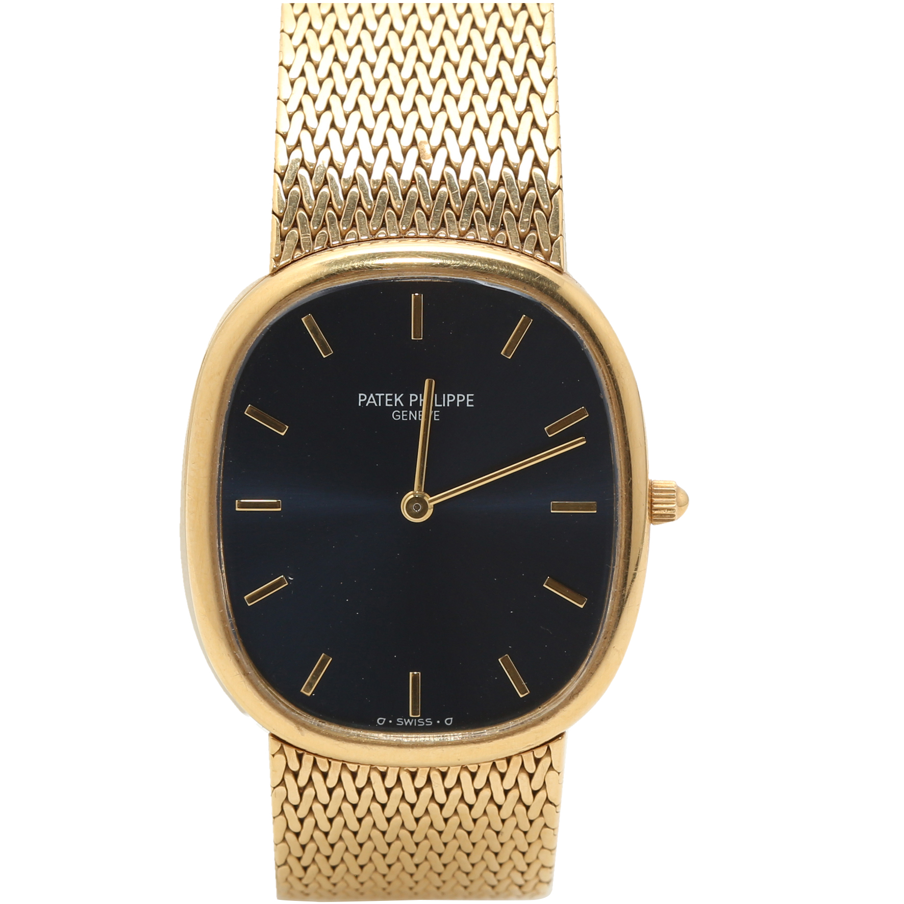 b7f0aeaf2 Buy Patek Philippe Dark Blue 18K Yellow Gold Ellipse 3738/122 Men's  Wristwatch 31MM 198965 at best price | TLC