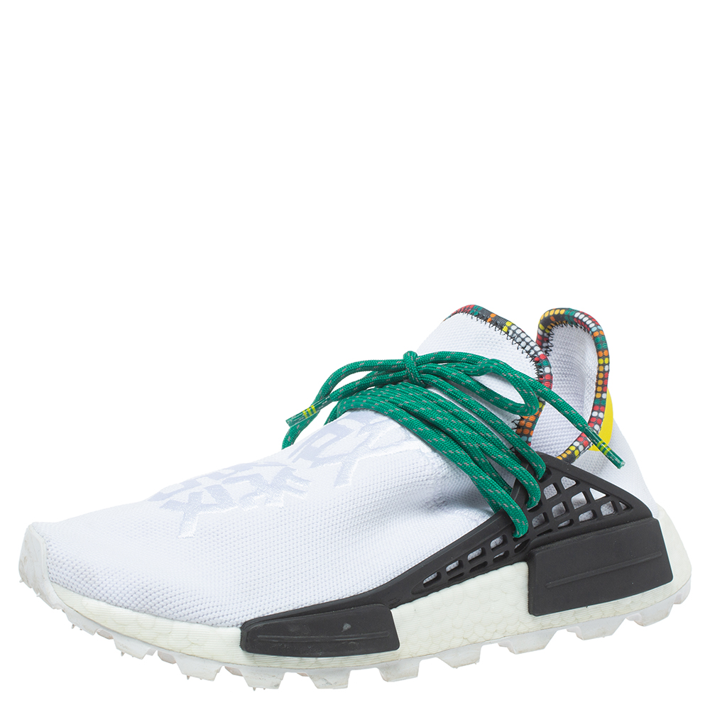 Pharrell Williams x adidas White Fabric Human Body NMD Sneakers Size 41.5