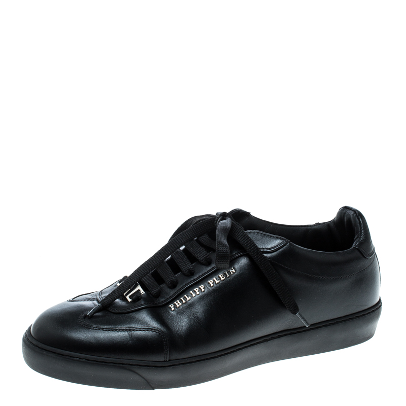 708f8511c82 ... Philipp Plein Black Leather Wilander Low Top Sneakers Size 40.  nextprev. prevnext