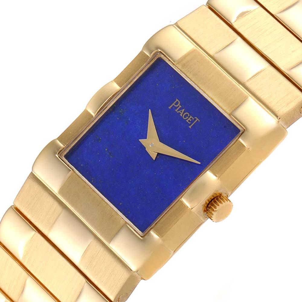 Piaget Blue Lapis Lazuli 18K Yellow Gold Quartz 81301 Men's Wristwatch 22 MM  - buy with discount