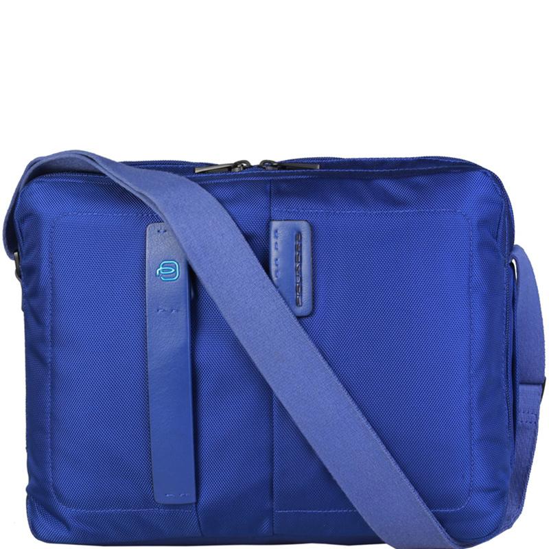 Купить со скидкой Piquadro Blue Nylon Messenger Bag