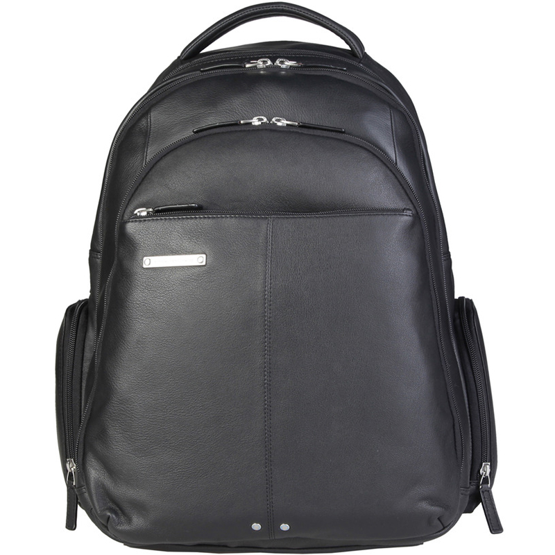 Фото #1: Piquadro Black Leather Backpack