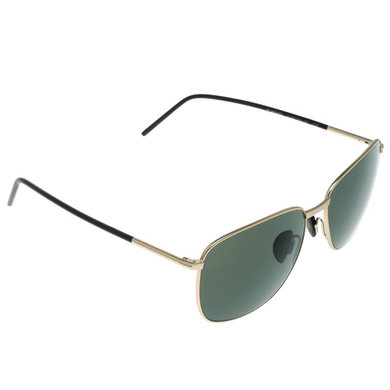 1ff7232705b7 Buy Porsche Design Satin Gold/Green P'8630 Square Sunglasses 167162 ...