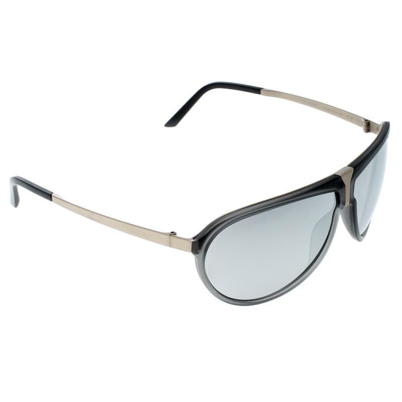 f1f52f827ed2 ... Porsche Design Grey Silver P86BF Aviator Sunglasses. nextprev. prevnext