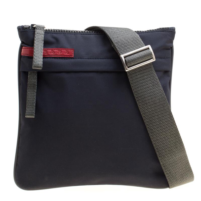 Фото #1: Prada Sport Dark Blue Nylon Crossbody Bag