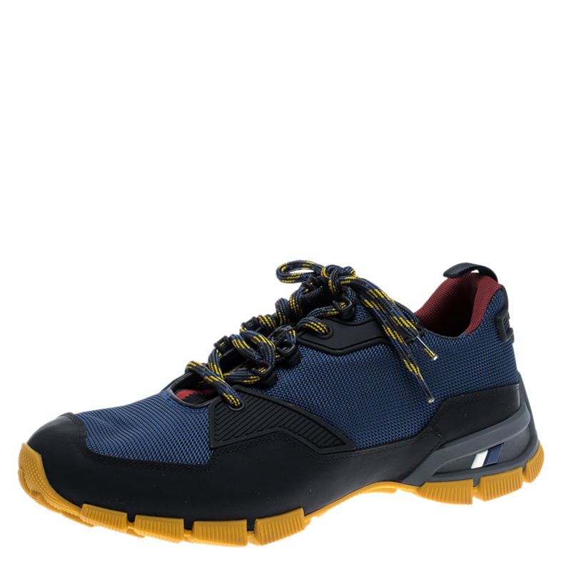 222effc24fce3 Buy Prada Sport Tricolor Mesh and Rubber Lace Up Sneakers Size 42.5 ...