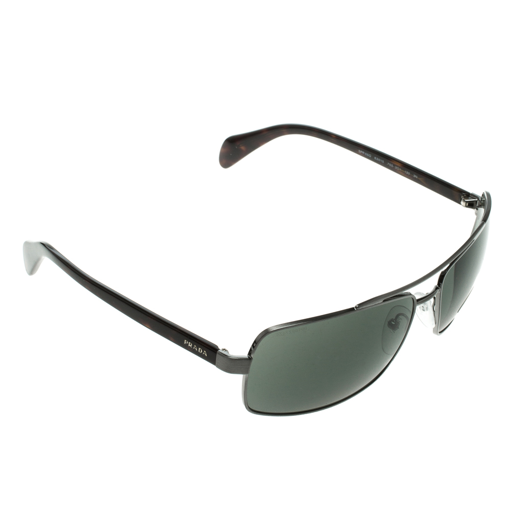 0ef5eabb7c474 إشتري نظارات شمسية برادا أفياتور مربعة SPR 55Q رمادية 117606 بأفضل ...