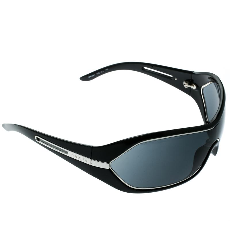 9a72d5a5a5 Buy Prada Black SPR09H Shield Sunglasses 182025 at best price