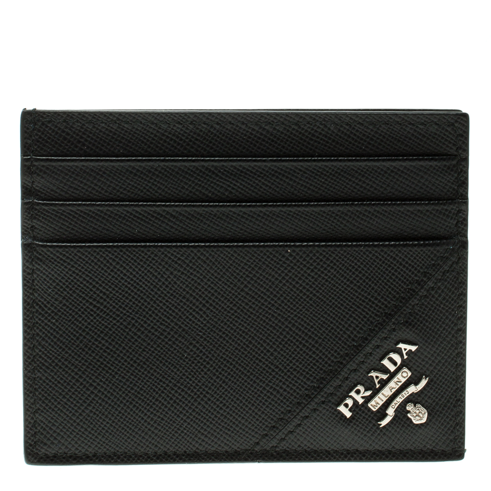 4f98c62cf8a9 ... Prada Black Saffiano Metal Leather Card Holder. nextprev. prevnext