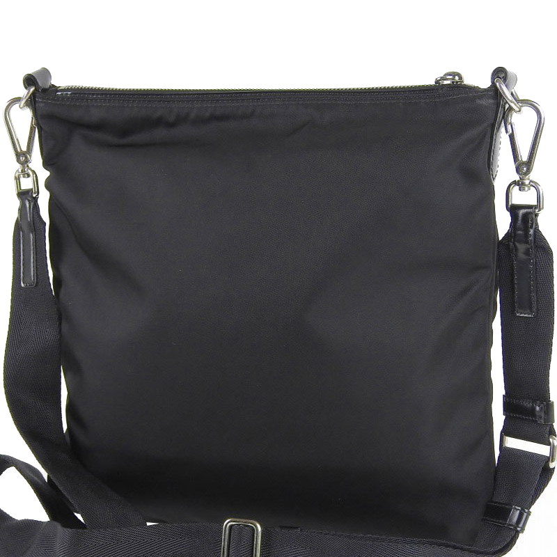Prada Black Nylon Leather Messenger Bag