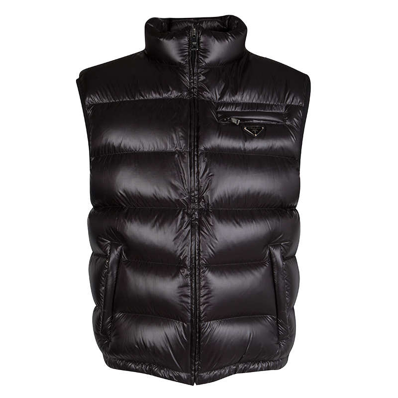 aced68a3ee Prada Black Sleeveless Quilted Down Jacket 3XL