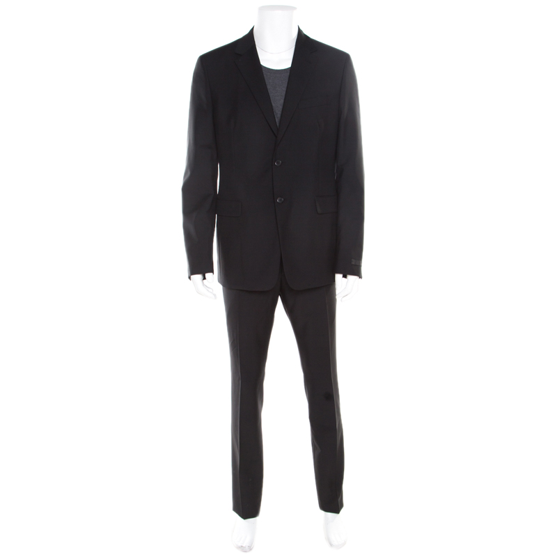 cf222dc9c5ce ... Prada Black Wool and Mohair Tailored Suit 2XL. nextprev. prevnext