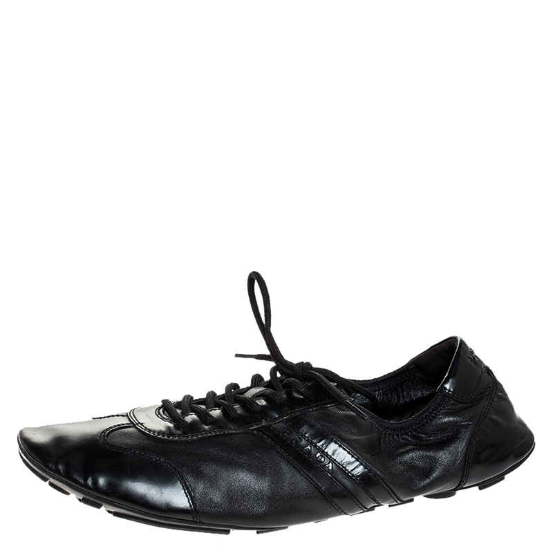 Patent Leather Lace Up Sneakers Size