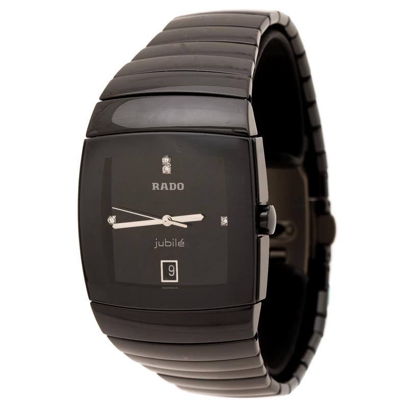 Rado Black Ceramic Titanium Sintra 156.0723.3 Men's Wristwatch 35 mm