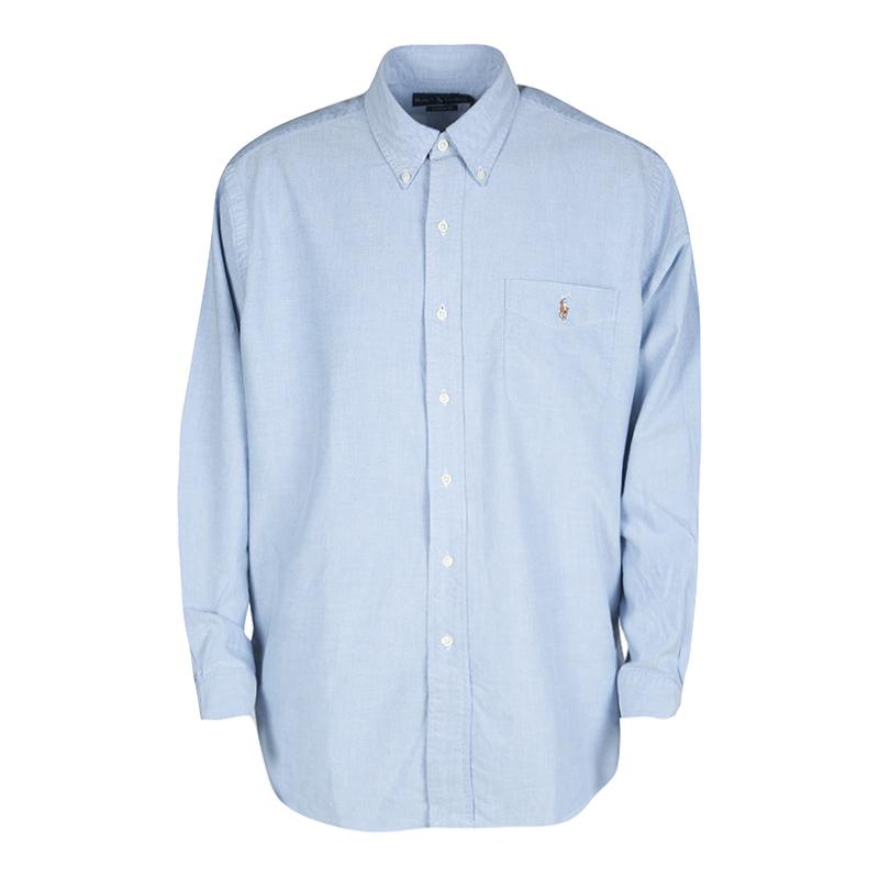 ab938ea99f66 ... Ralph Lauren Blue Cotton Long Sleeve Button Down Classic Fit Oxford  Shirt XXL. nextprev. prevnext