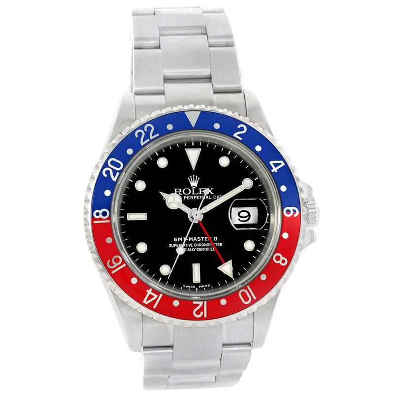 Buy Rolex Black Stainless Steel Gmt Master Ii Men S Wristwatch 40mm