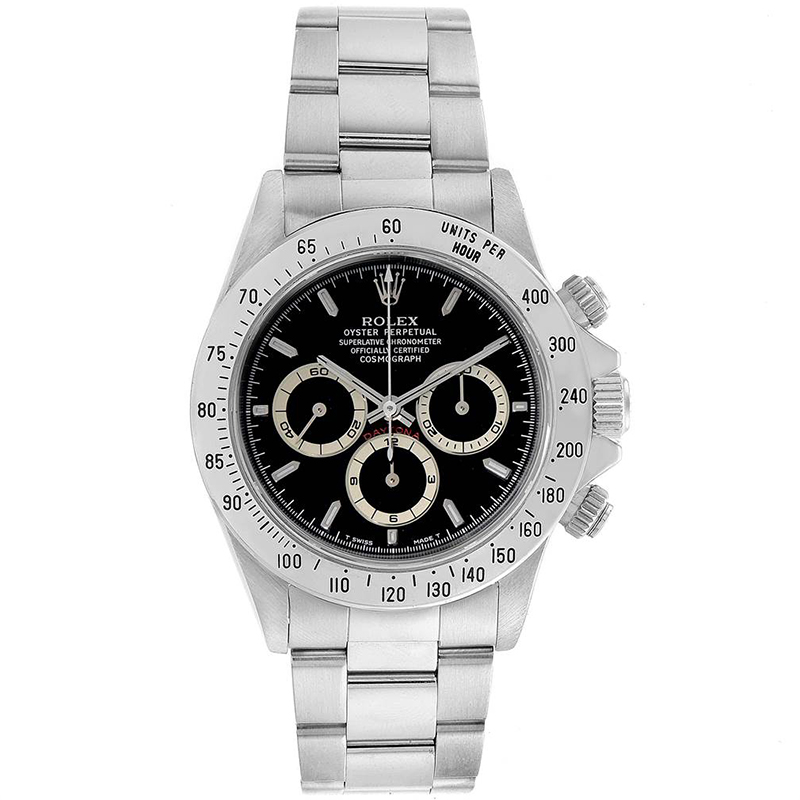 Used Rolex Daytona >> Rolex Black Stainless Stel Cosmograph Daytona 16520 Men S Wristwatch 40mm