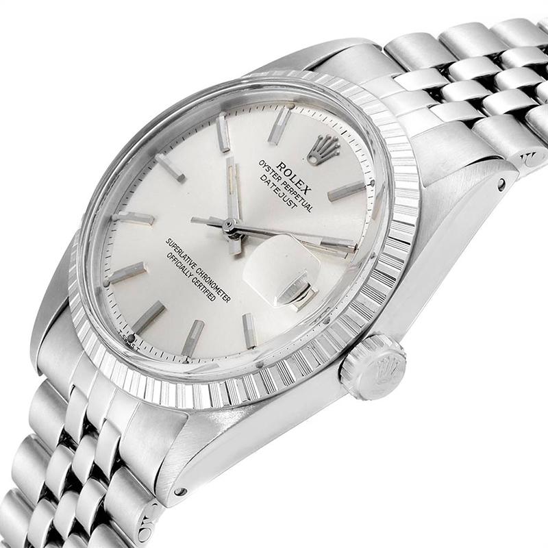 Rolex Silver Stainless Steel Datejust Vintage
