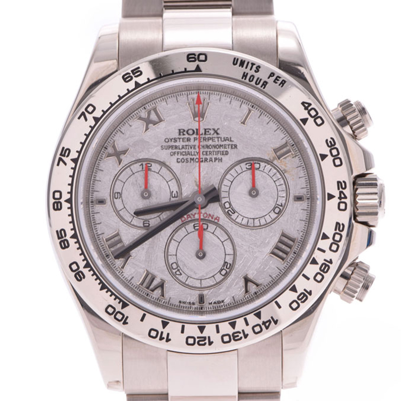Rolex Meteorite White Gold Daytona 116509 Z Men\u0027s Wristwatch 38MM