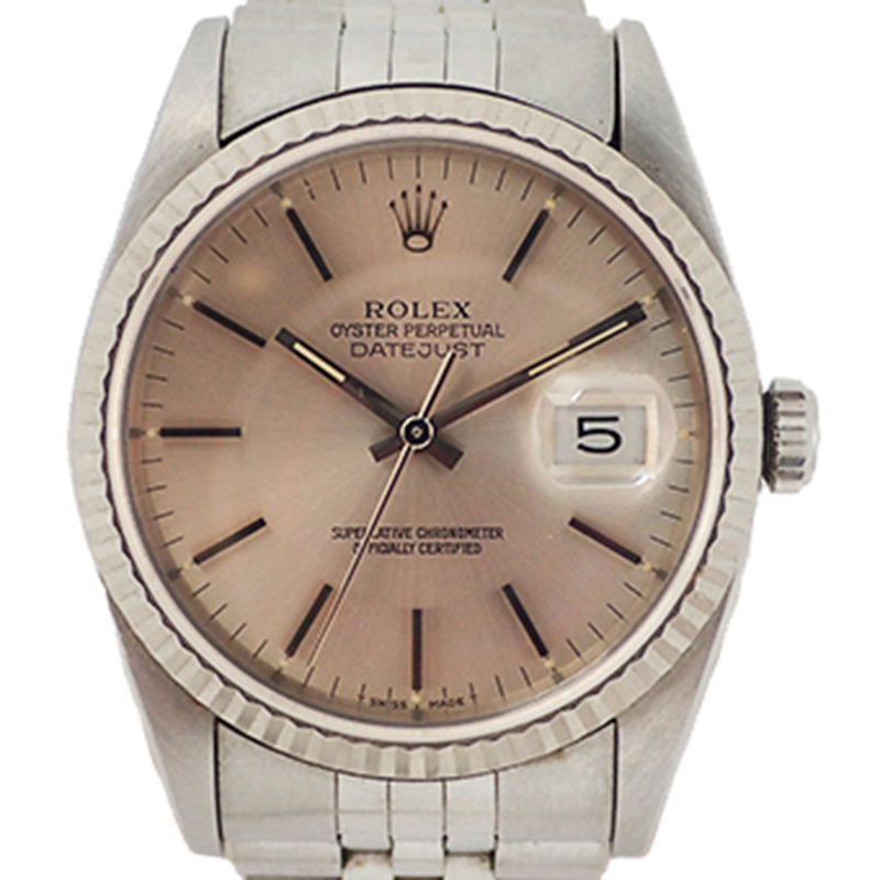Rolex Champagne and Stainless Steel Automatic, Pink
